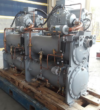 Carrier 75 ton water cooled chiller full view